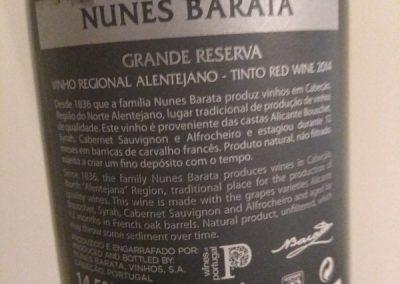 Nunes Barata Grande Reserva 2014