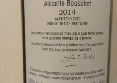 Júlio Bastos Alicante Bouschet 2014